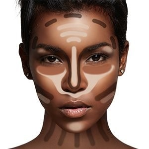 contour and highlight round face