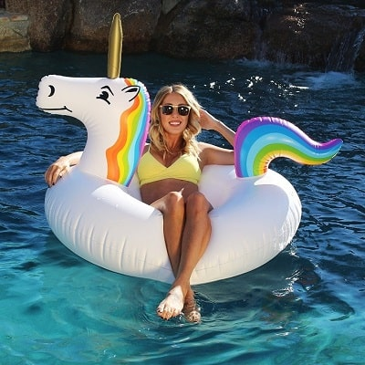 luxury pool floats unicorn